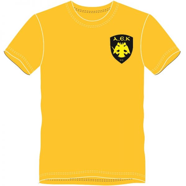 TShirt ΑΕΚ HANDBALL (Κίτρινο) - Μπροστά