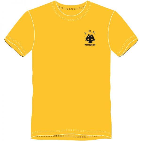 TShirt ΑΕΚ VOLLEYBALL (Κίτρινο)