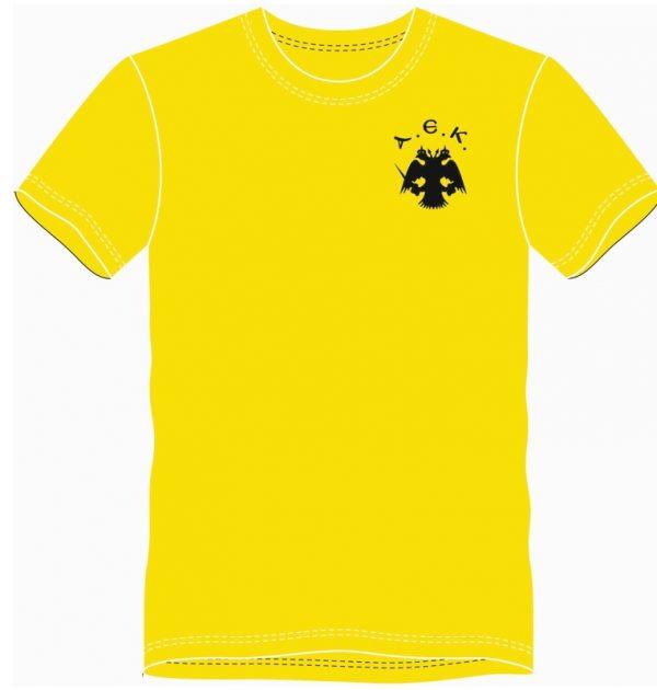 tshirt ΑΕΚ rugby league κίτρινο μπροστά